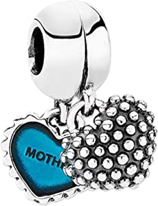 Pandora Women's Mother and Son Pendant Charm - Silver Plated