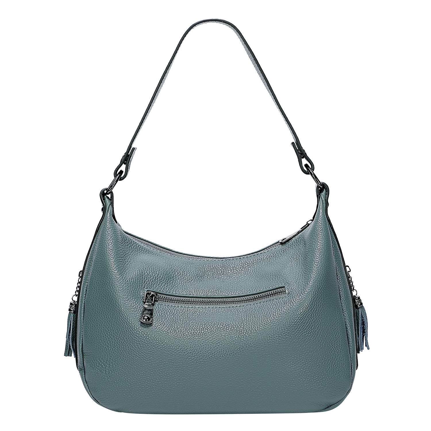 OVER EARTH Womens Handbags Soft Leather Hobo Shoulder Bag Ladies Crossbody Tote Purses with Tassel