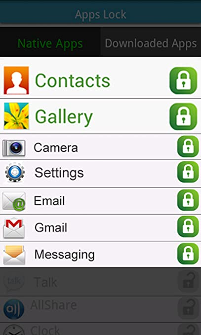 Contacts & Apps Lock