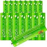 エネボルト(enevolt) 単4 充電池 900mAh 大容量 ニッケル水素充電池 自然放電軽減 繰り返し約1000回 充電 電池 16本セット