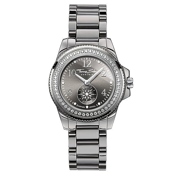 Thomas Sabo Reloj Analógico para Mujer de Cuarzo con Correa en Cerámica WA0160-259-206-33: Amazon.es: Relojes