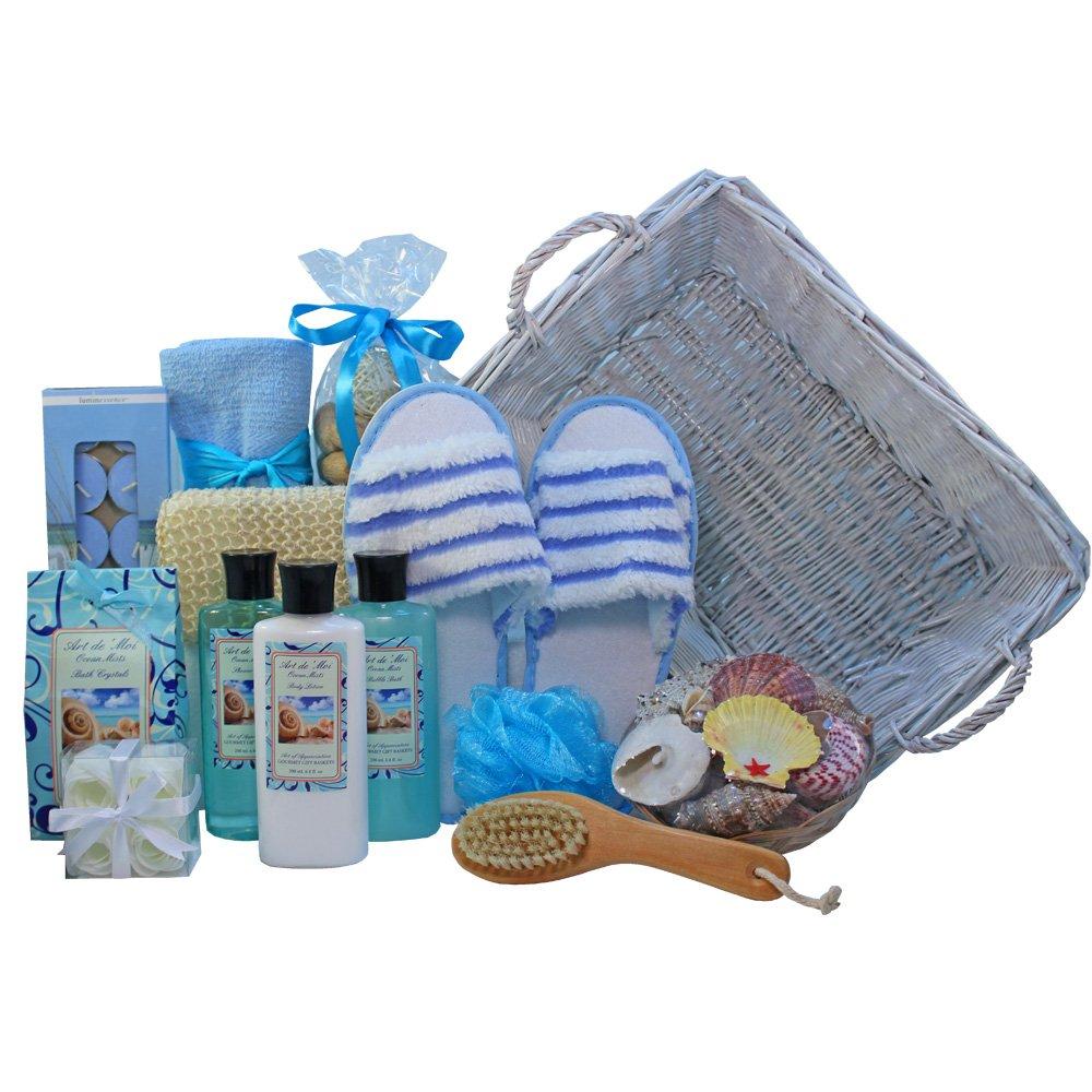 Seaside Getaway Spa Bath and Body Gift Basket Set: Amazon.com ...