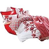 Cotton Box Çift Kişilik Yatak Örtülü Nevresim Takımı - Scarlet Kırmızı