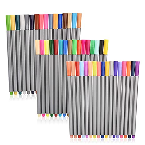 Zczn Colors Fineliner Pens Fine Tip Colored Writing Drawing