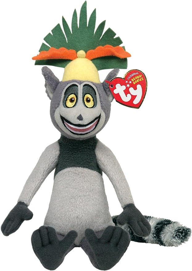 Amazon.es: Ty Beanie Baby Madagascar Rey Julien XIII - Mono de peluche: Juguetes y juegos