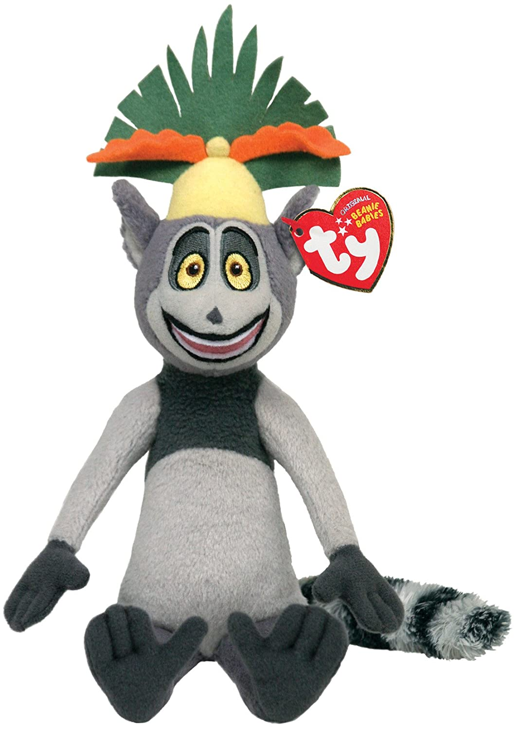 61eec249971 Amazon.com  Ty Beanie Baby King Julien Madagascar  Toys   Games