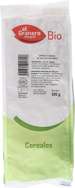 GRANERO INTEGRAL COPOS DE CEBADA BIOLOGICOS 500 gr: Amazon.es ...
