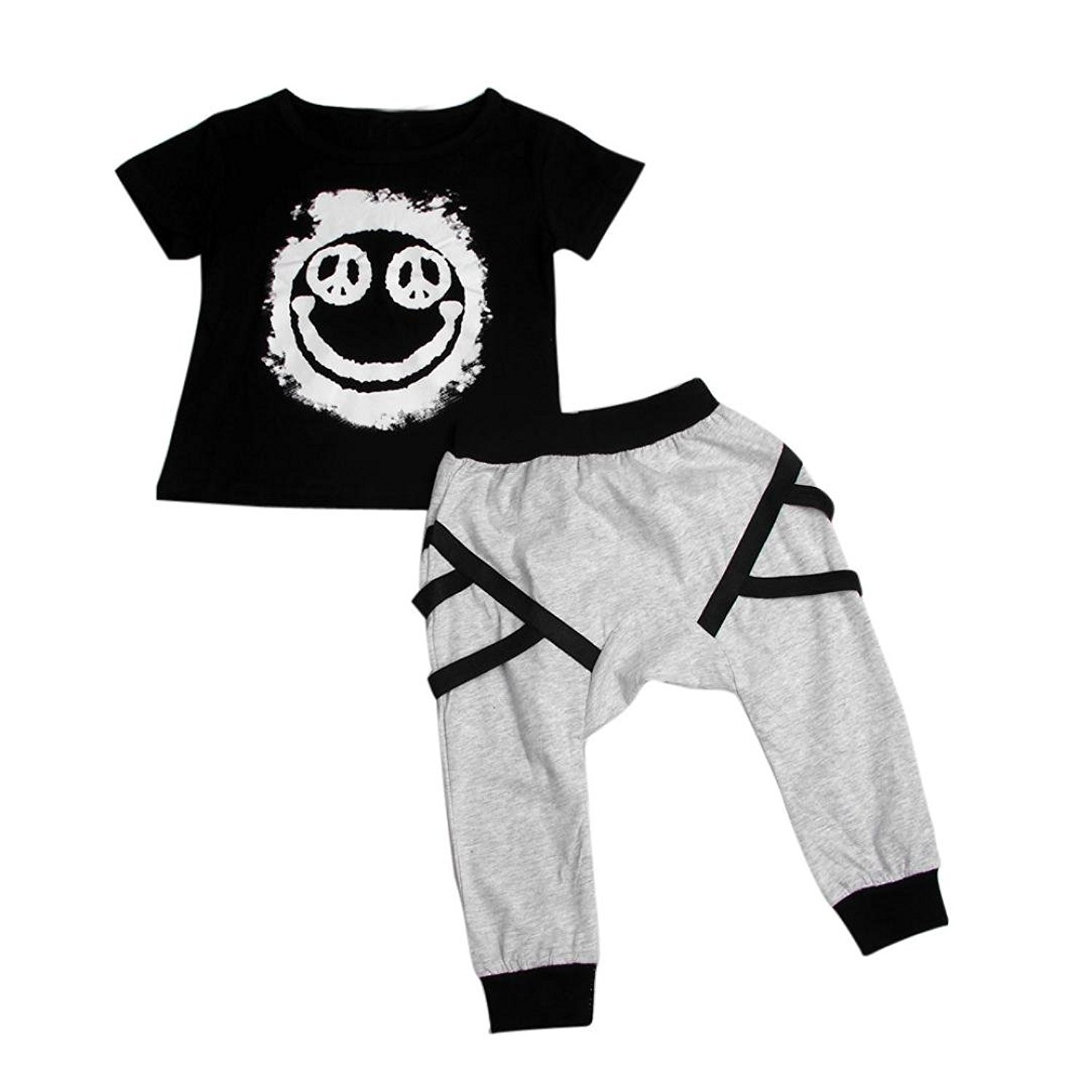 9acaf812a49 LUQUAN Set Clothes Trendy Baby Boy Letter Printed T-Shirt + Long Pants  Outfits