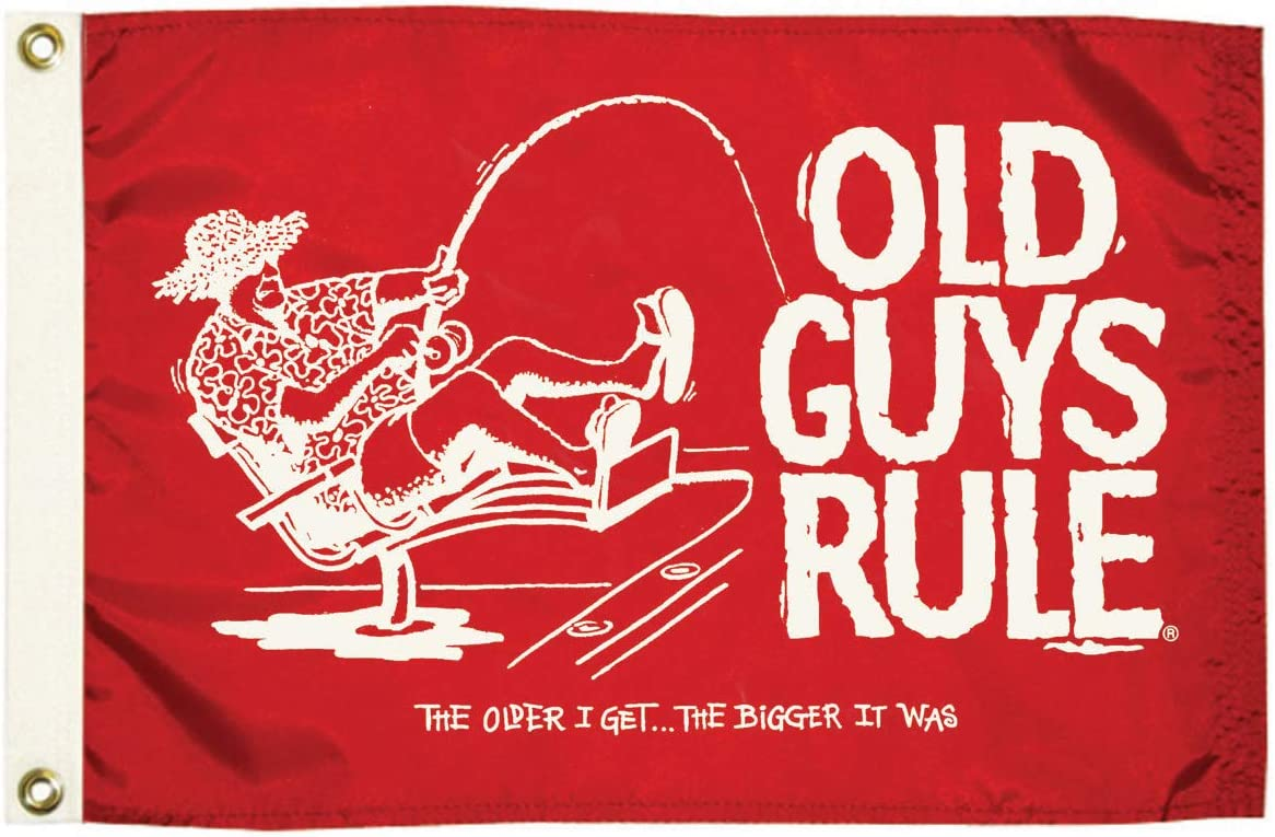 Taylor Made Products 5636 Old Guys Rule the Older I Get Flag