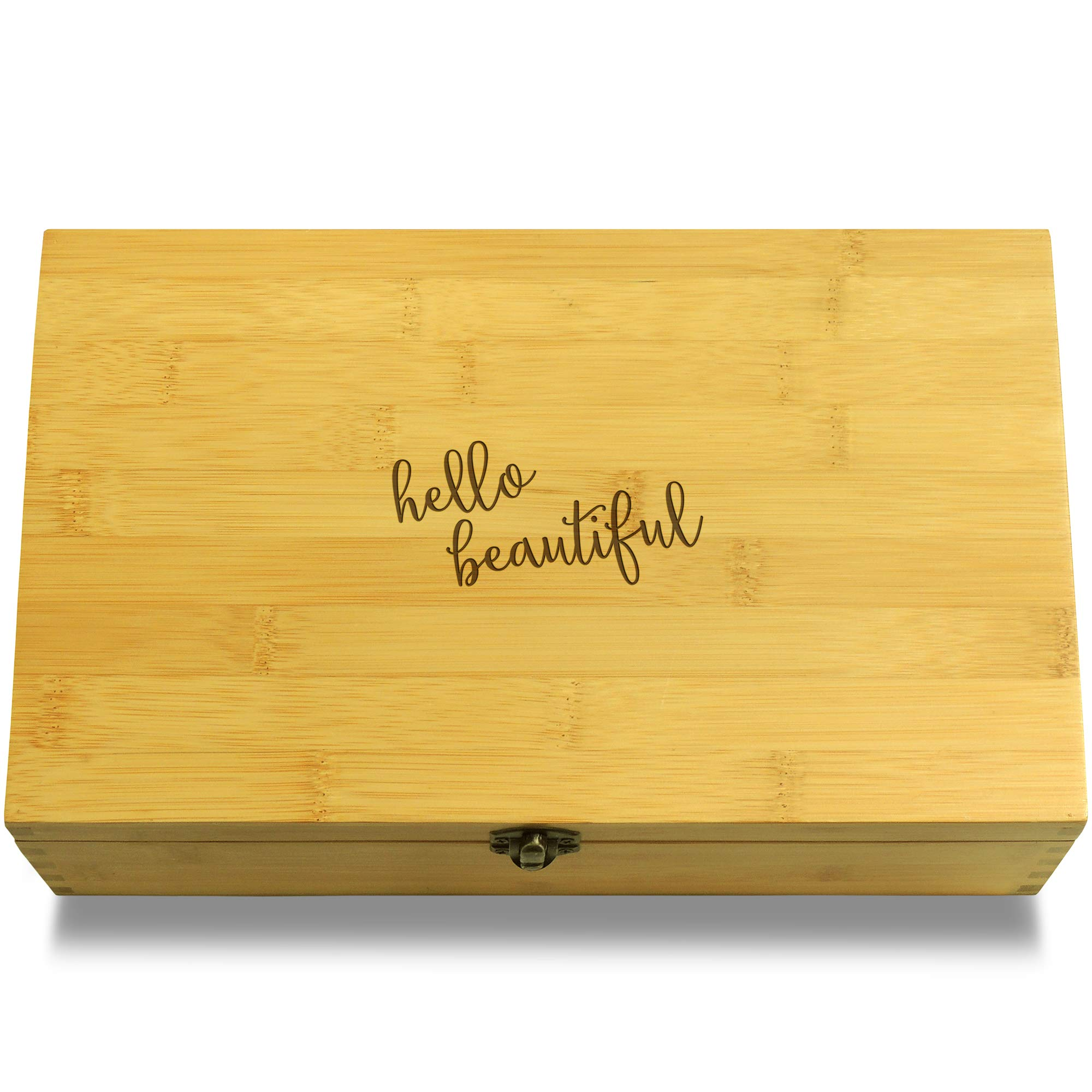 Cookbook People Perfect Makeup Lady Cosmetics Multikeep Box - Memento Sustainable Bamboo Adjustable Organizer