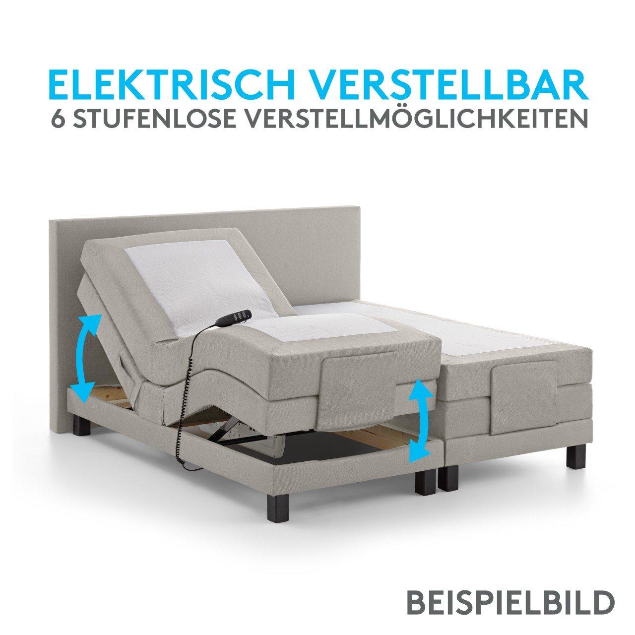 BELVANDEO I Luxus Boxspringbett NIZZA – elektrisch verstellbar I ...
