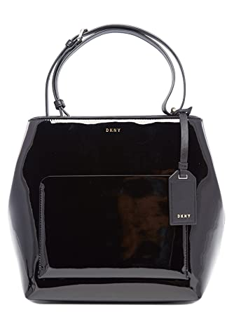 DKNY Bolso asa al hombro R361170304 PATENT LE Negro  Amazon.es  Zapatos y  complementos 0637c18d8e7d