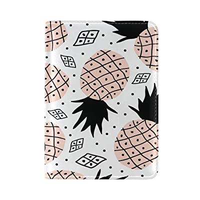 Yuihome Passport Covers Pineapple Personalized Genuine Leather for Travel