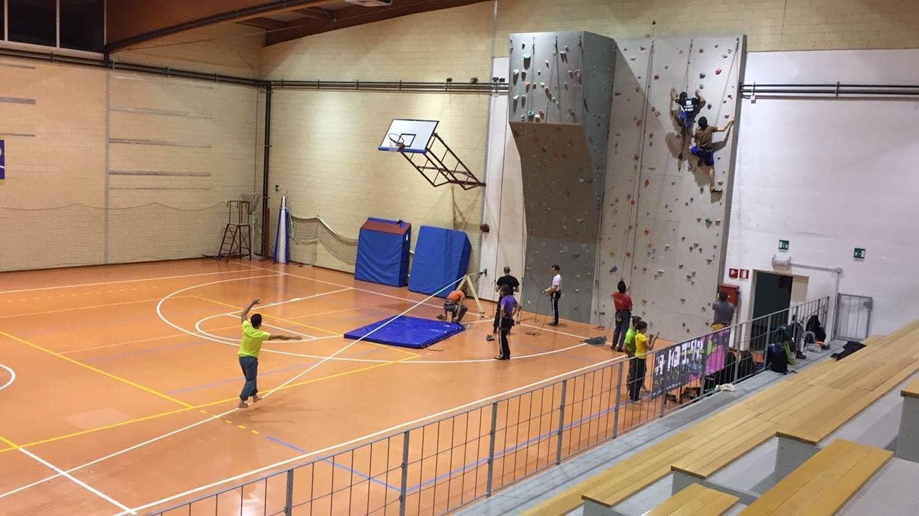 SPIDER SLACKLINES Placa Pared slacklininig Indoor: Amazon.es ...