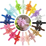 "20Pcs 3"" Baby Girls Toddlers Kids Children Polka Dot Boutique Elastic Headbands"