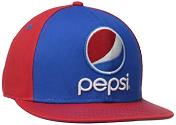 0822f5d8f91 Pepsi Cola Soda Beverage Brand Drink Snapback Flat Bill Contrast Crown Hat  Cap