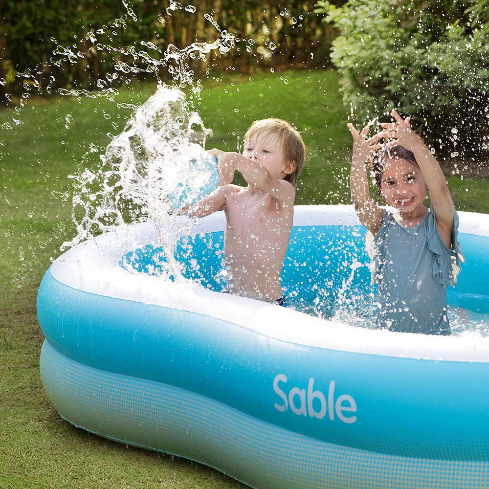 Sable Inflatable Pool, Swimming Family Size Kiddie Blow Up Pool, 103 x 63 x 18 in, Easy Set Up, for Ages 3+ by Sable (Image #8)