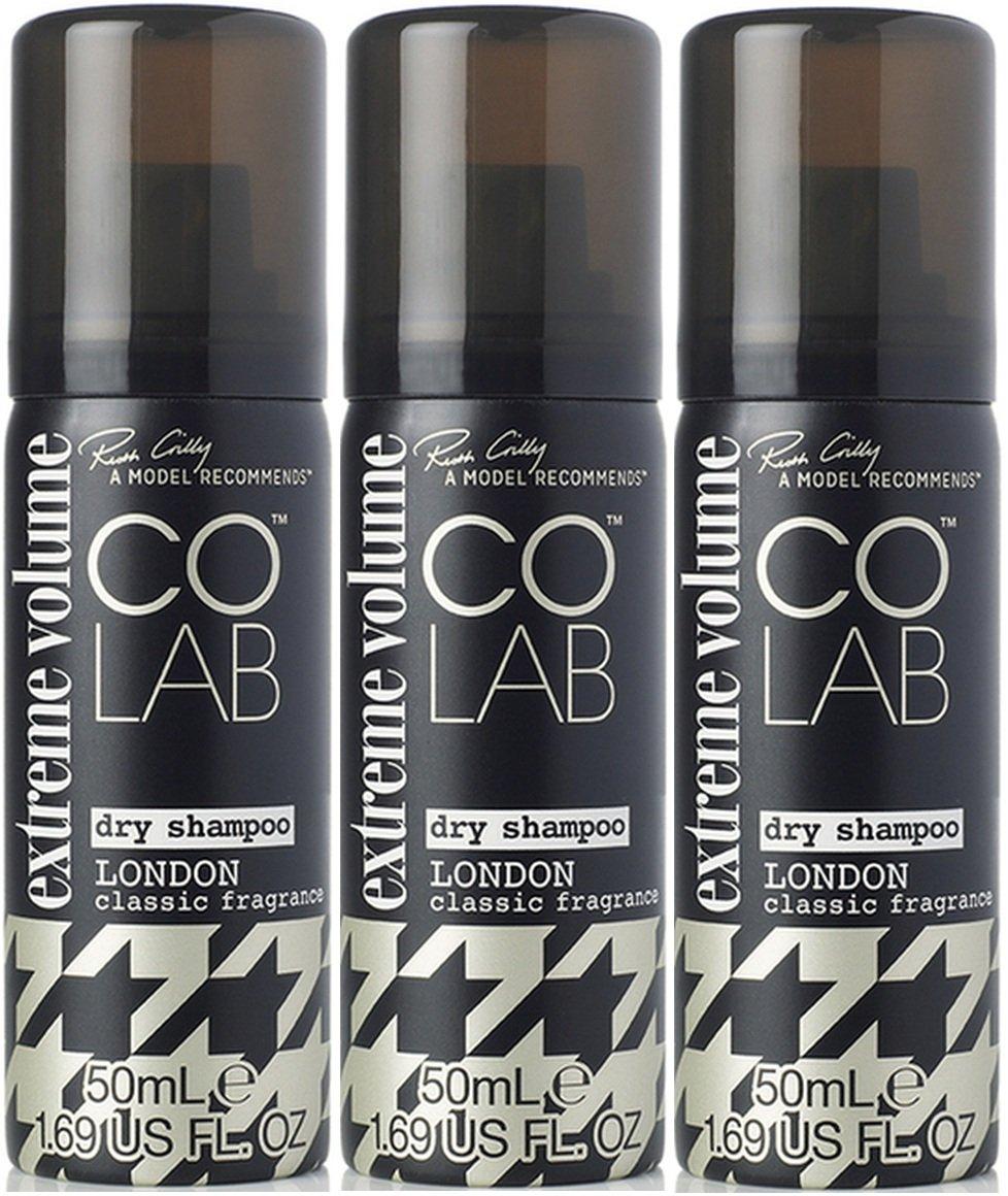 Colab Extreme Volume London - Champú seco de viaje (50 ml, 3 unidades)