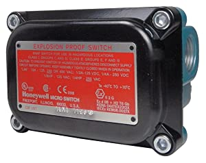 Honeywell - 4EX1-3 - Rotary, Roller Lever Explosion Proof Limit Switch; Location: Top, Contact Form: 2NC/2NO, CW Movement