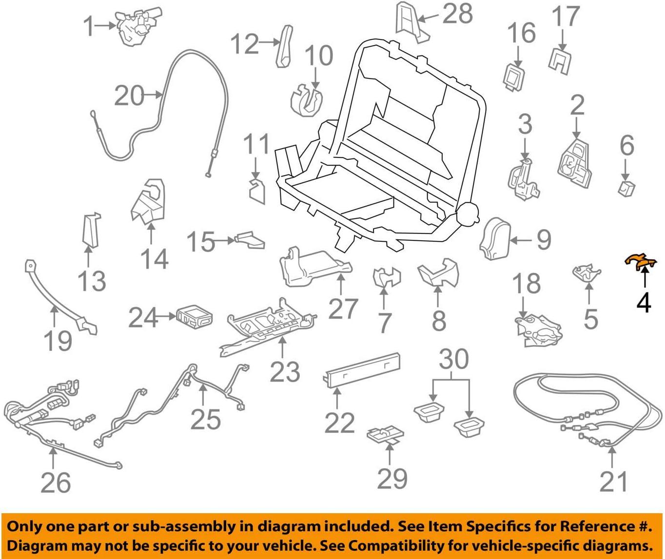 TOYOTA Genuine 72615-60010-C0 Seat Back Lock Striker Cover