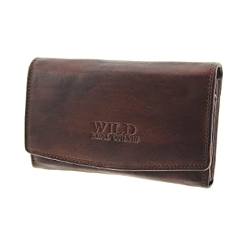 Damen Börse Geldbörse Portemonnaie Geldbeutel Gross Echtes Leder Brieftasche