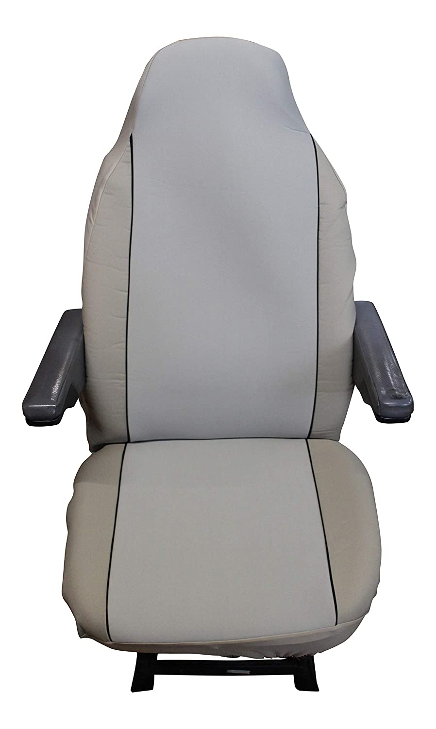 Carseatcover-UK Luxury MOTORHOME Seat Covers UNIVERSAL FIT Grey Paisley CHOICE OF 10 FABRICS