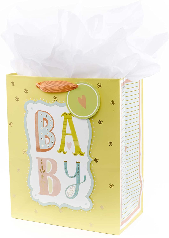 Embossed Design Hallmark Large New Baby Gift Bag
