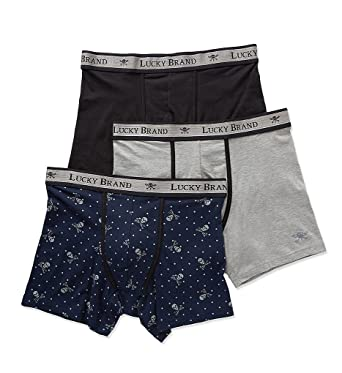 22aa17dcd240 Lucky Brand Men's Black Label 3 Pack Stretch Boxer Briefs at Amazon Men's  Clothing store: