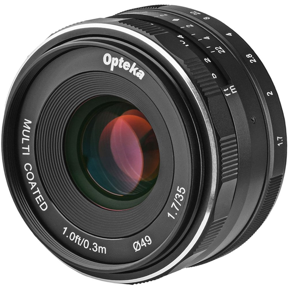 Opteka 35mm f/1.7 HD MF Prime Lens with 3 Filters + Tripod Kit for Olympus OM-D, Pen & Panasonic LUMIX Micro 4/3 Digital Cameras by Opteka (Image #3)