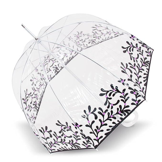 Isotoner Paraguas Cesta transparente para mujer PVC/Persan