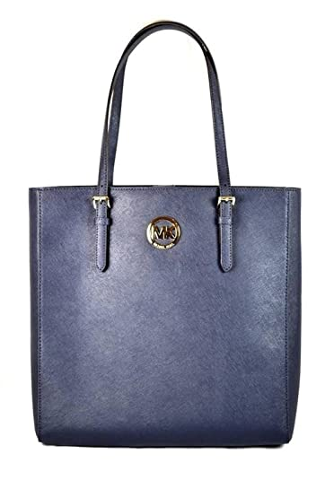 854b442a5768 Amazon.com: Michael Kors Jet Set Travel Large NS Tote Bag Navy Saffiano  Leather: Shoes