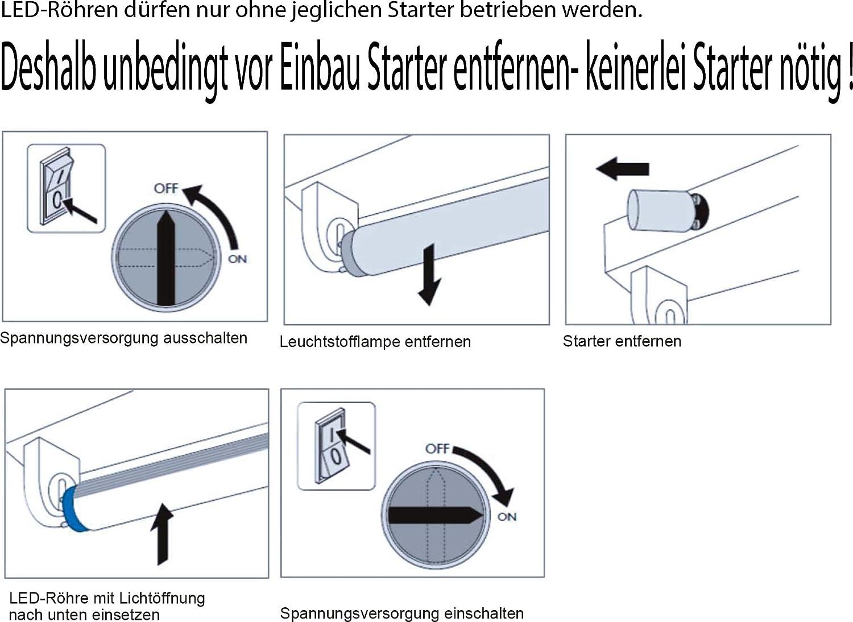 Schaltplan Leuchtstofflampe Starter