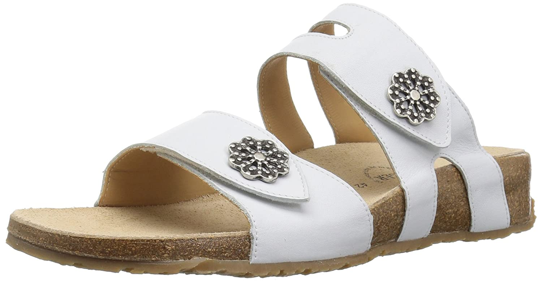 Haflinger Women's Pansy Flat Sandal B075849K2P 37 M EU (6 US)|White