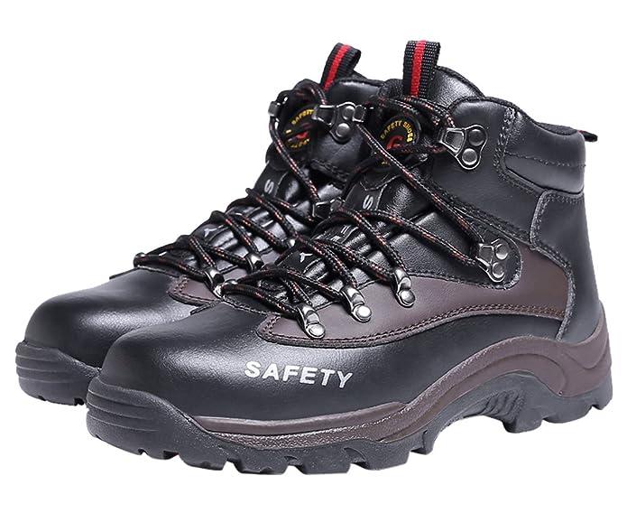 Industria Zapatos Zapatillas Bota De Seguridad para Hombre Trabajo con Tapa Acero Calzado Deportiva Antideslizante: Amazon.es: Zapatos y complementos