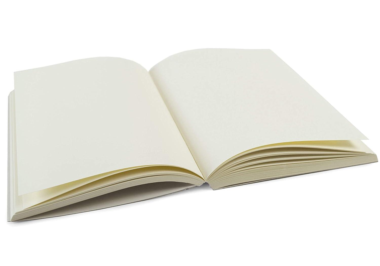 ilcarta Ricarica Per Agenda Carta Italiano Dimensione Grande Crema (20cm x 14cm x 2cm) LEATHERKIND ®