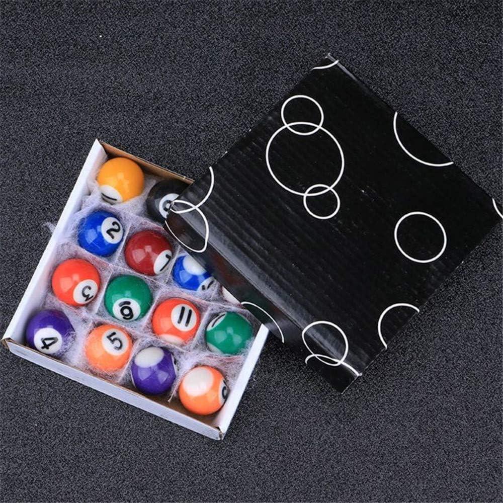 Xiaolizi 16pcs 25mm Resina Mini Bola de Billar de Juguete para niños pequeños Taco de Billar Las Bolas del Conjunto Completo A69A para el hogar de Padres y Juegos Infantiles: Amazon.es: Hogar