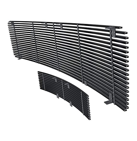 APS Stainless Steel 304 Black Billet Grille Grill Custome Fits 2009-2014 Ford F-150 Lower Bumper