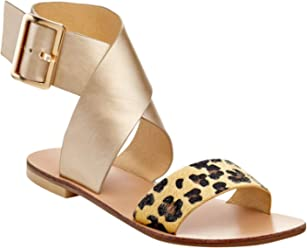 7fa468accc5 Extreme by Eddie Marc Women Criss-Cross Open Toe Wide Leopard Strap Fashion  Flat Sandal