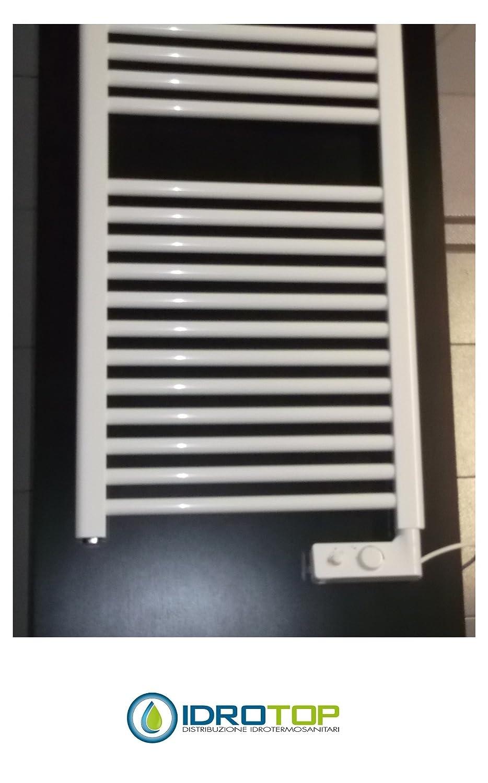 Scaldasalviette CORTINA elettrico bianco cm 92x48 con termostato ...