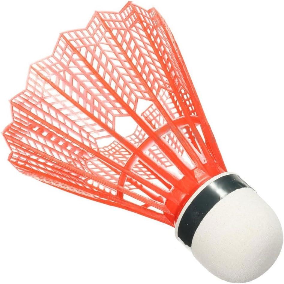 Forfar 12Pcs Volants en Plastique Sport Formation Badminton Ball Les Formations Les Jeux de comp/étition r/écr/éative Les Amateurs de Badminton Color/é