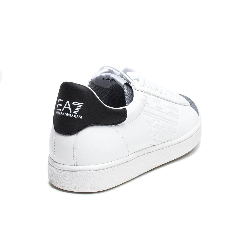 84f95ff92563c Sneakers EA7 EMPORIO ARMANI Uomo 278080 7P299E00010 Bianco  EG040278080-7P299E00010 44 1 2  Amazon.it  Scarpe e borse