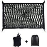 Premium Quality Adjustable Elastic Cargo Net Universal Stretchable Truck Net with Hooks,Storage Bag for Car, SUV, Truck…