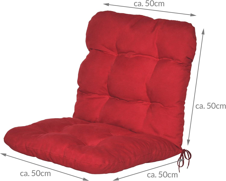 Beautissu Set di 2 Cuscini per sedie da Giardino Flair NL 100x50x8cm Comoda e soffice Imbottitura Beige Ideale Anche per spiaggine