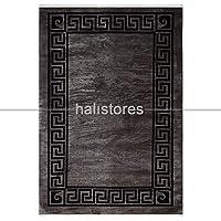 Antrasit-Siyah Çerçeveli Halı Pierre Cardin Monet MT26D Beyaz Gri 80 x 150