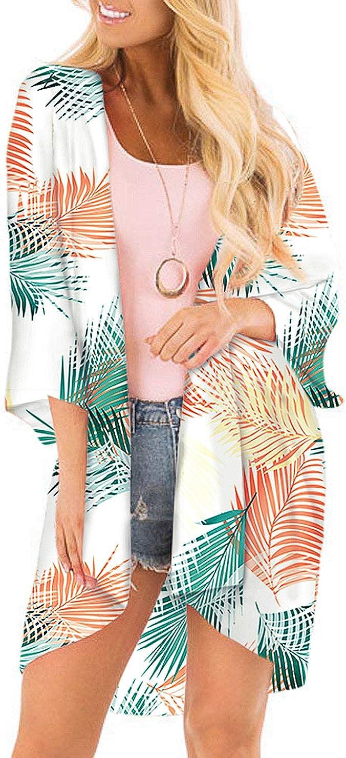 SHEKINI Mujer Blusa Damas Chal Ropa de Playa Ropa de Playa Bohemia Impresa Suelta