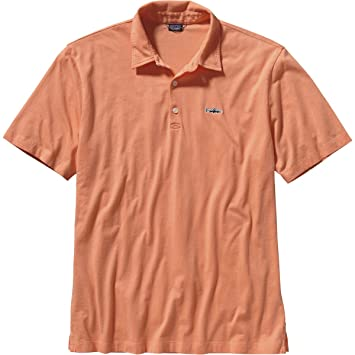 631e4829 Patagonia Trout Fitz Roy Polo Shirt - Men's Peach Sherbet, S: Amazon ...