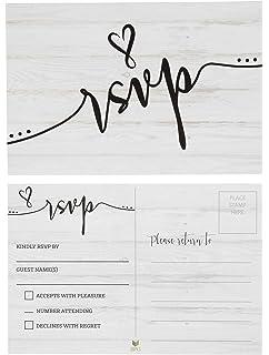 Amazon 50 Blank RSVP Cards Postcards No Envelopes Needed