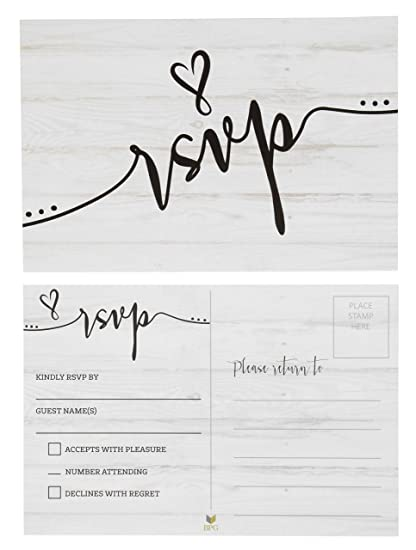 rsvp cards 60 pack rvsp postcards response return card for wedding rehearsal