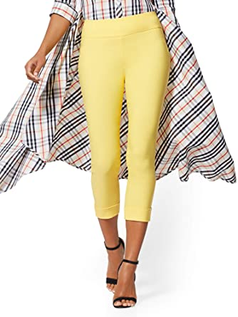 a87f5d240214 New York & Co. Women's Tall High-Waist Pull-On Crop Pant at Amazon Women's  Clothing store: