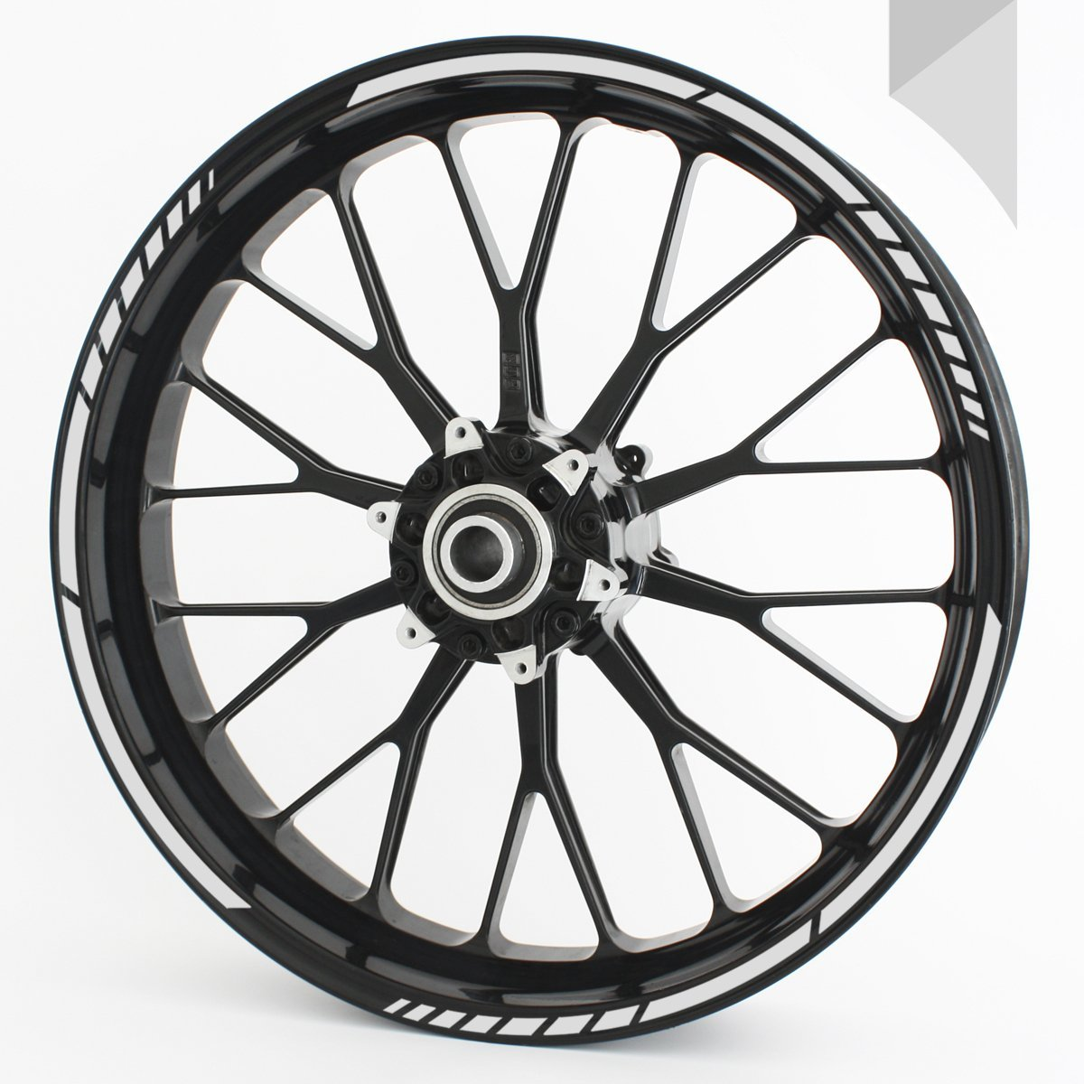 16 17 18 and 19 Motorcycle /& Car Wheels GREY colour selectable Wandkings GP wheel rim sticker for 15